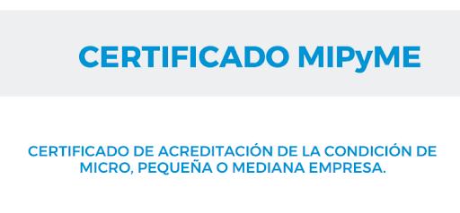 certificado mi pyme